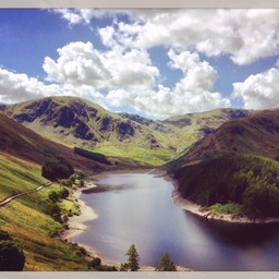 Haweswater with Harter Fell on the left and Mardale Ill Bell on the right.