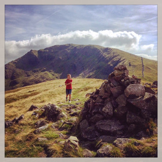 From Middle Dodd looking back to Red Screes.