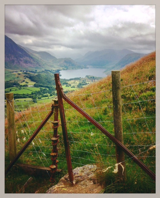 Towards the Buttermere valley from Low Fell.