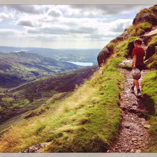 The path to Red Screes.