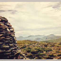 Towards the Scafell ridge from High Spy.