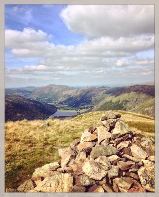 Middle Dodd looking towards Brothers Water, Angle Tarn Pikes and Place Fell.