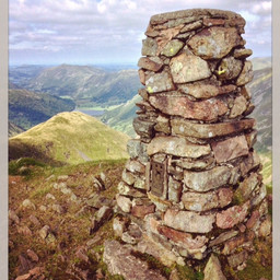 The summit, Red Screes.