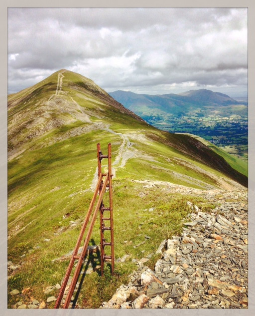 The ridge of Grisedale Pike.