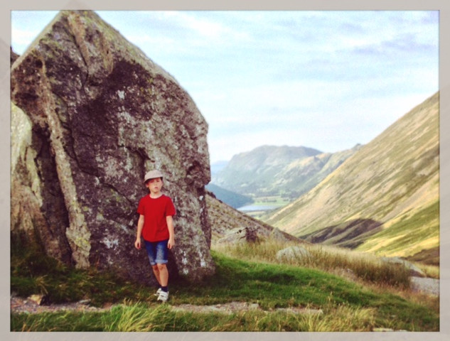 The Kirkstone looking towards Brotherswater and Place Fell.