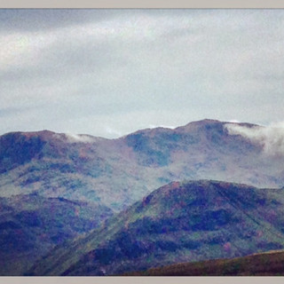 Toward Scafell Pike from High Spy.