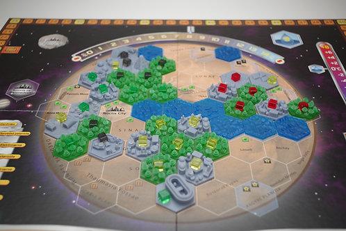 Zestaw heksów 3D do gry Terraformacja Marsa