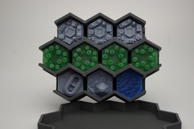 "Heksy 3D zestaw do gry ""Terraformacja Marsa"""