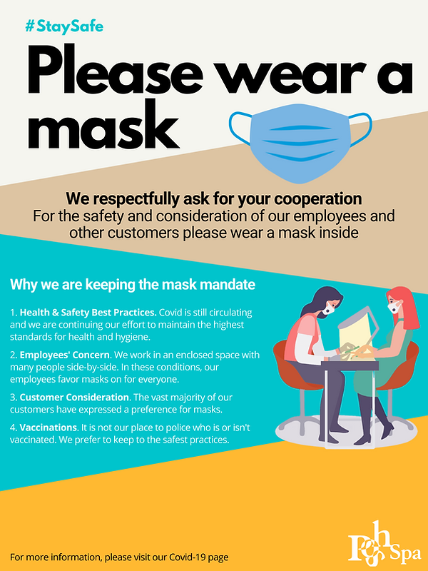 Mask Mandate Poster for Covid-19 Safety