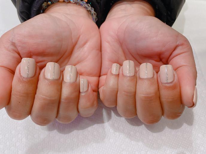 Silver Streak Manicure