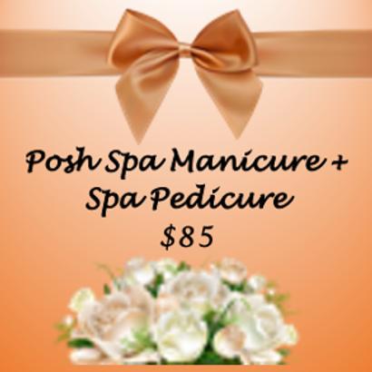 Posh Spa Manicure + Pedicure