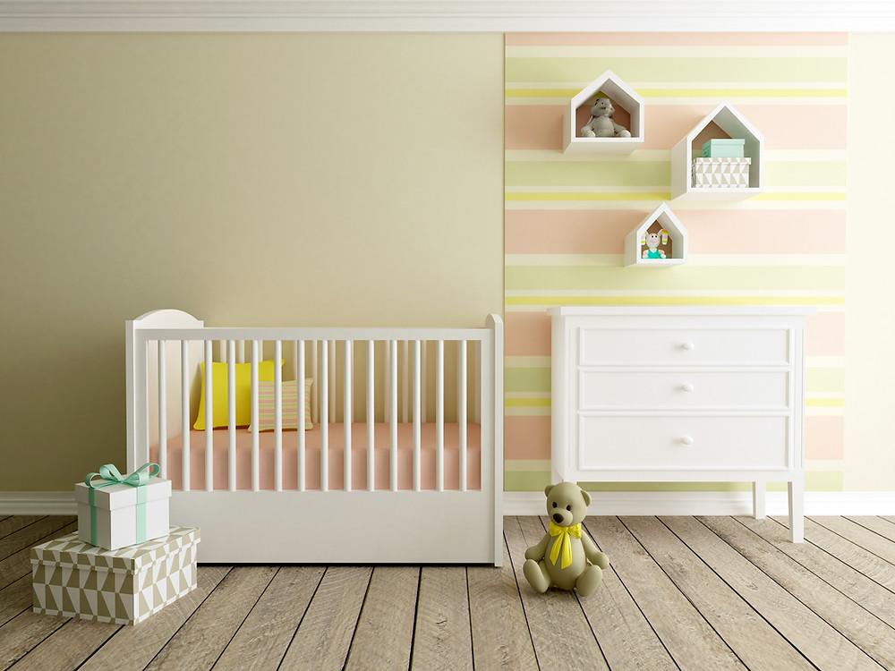 Bercinho no quarto do bebê
