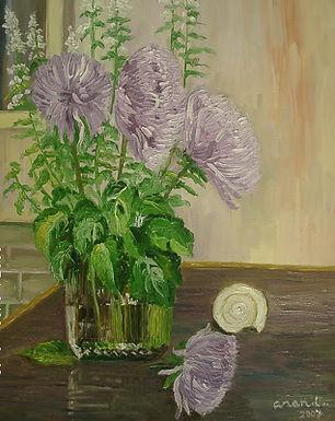 Voilet Crysanthemums