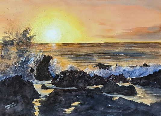 Seascape Watercolours by MR Anand