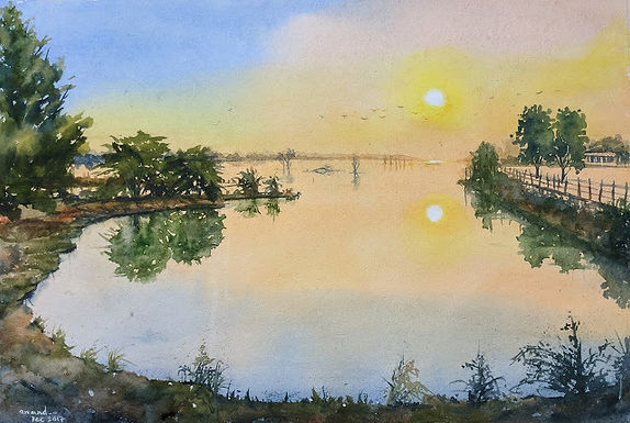 Dawn at Lake