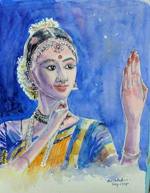 Bharatnatyam Danseuse.
