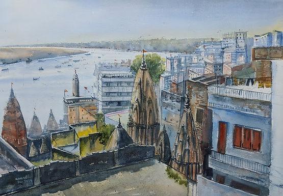 Ghat on Ganges