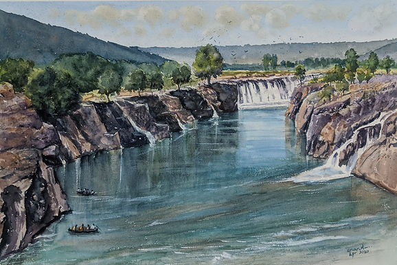 Landscape Watercolours by MR Anand – Pristine Falls