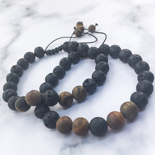 Mo's Natural Solutions Lava stone and Wood bead essential oil diffuser bracelet Nigeria
