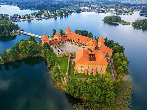 trakai, lithuania medieval gothic island