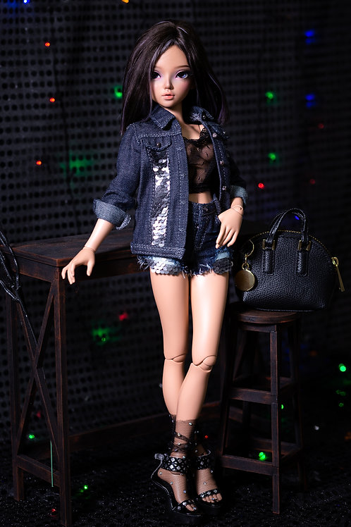 1/4 MSD bjd denim jacket for Minifee and similar