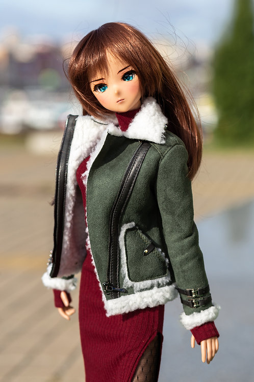 Sheepskin coat for Smart Doll, 1/3, BJD SD13