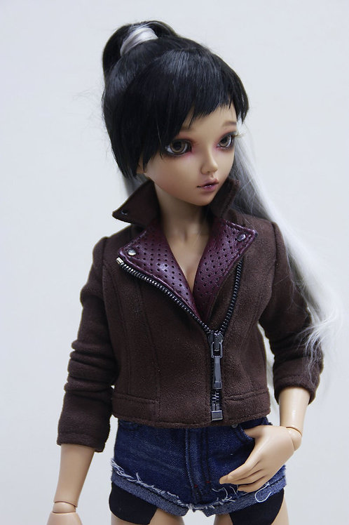 1/4 MSD bjd Faux suede jacket for Minifee