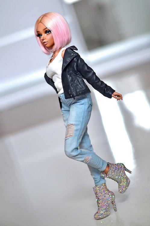 1/4 MSD bjd boyfriend jeans for Minifee A line, Moe Line