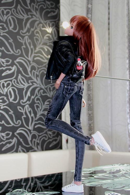 Biker Skinny  Jeans  for Smart Doll, 1/3, BJD SD13