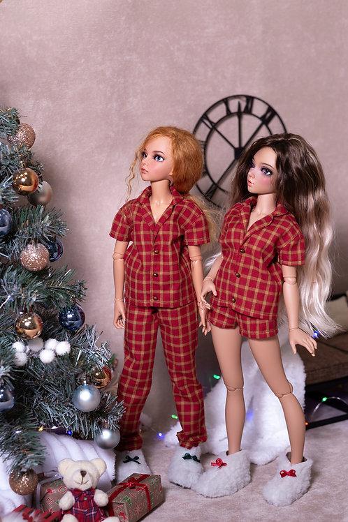 1/4 MSD bjd pajamas with shorts for Minifee