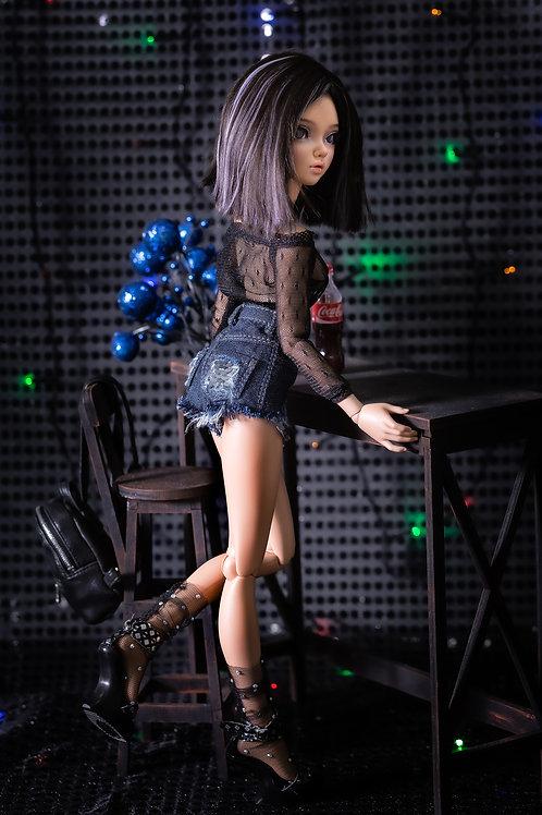 1/4 MSD bjd Denim shorts for Minifee & Similar 16 inch dolls