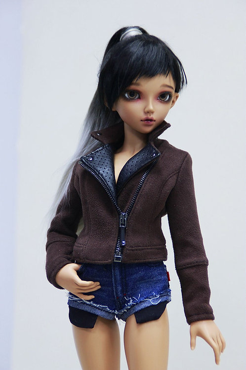 1/4 MSD bjd Faux suede jacket for Minifee