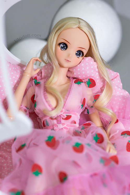 PRE-ORDER  Dress pink strawberry for Smart Doll. Production time 3-4 weeks