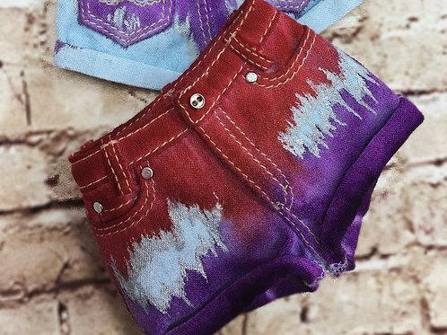 MSD bjd denim colored shorts for Minifee