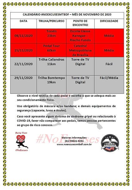 Calendário Novembro 2020 NoExcuses v.2.j
