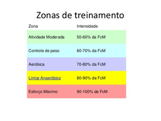 Zonas de Treinamento