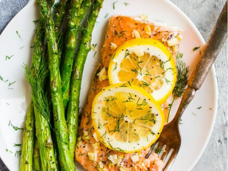 Grilled Salmon with Fresh Citrus and Herbs