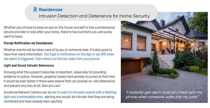surveillance cameras-Residences