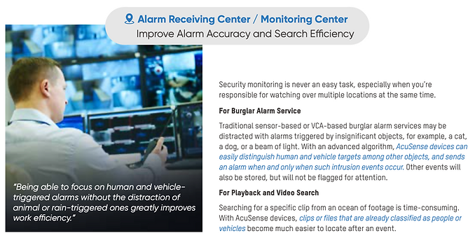 surveillance cameras-Alarm Receiving Center / Monitoring Center