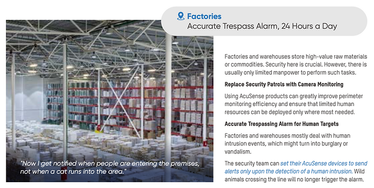 surveillance cameras-Factories