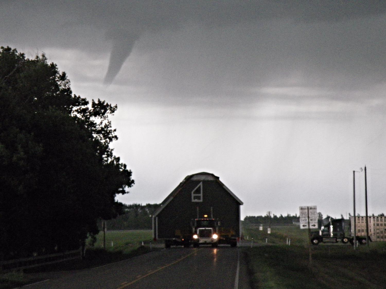 Tornado behind us