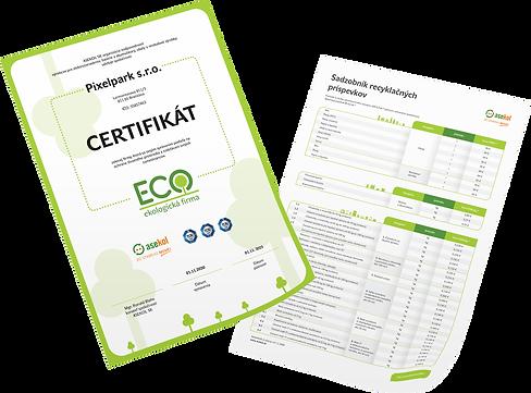 Asekol cenník a certifikát