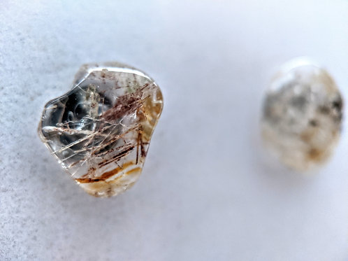 Inclusion Quartz Stud Earrings