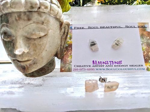 Moonstone Gemstone Stud Earrings