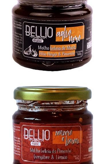 Geleias de Pimenta: Maçã/Alho Negro + Gengibre/Limão
