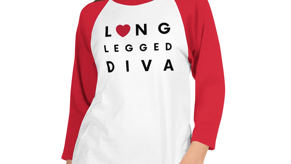 Diva 3/4 sleeve raglan shirt