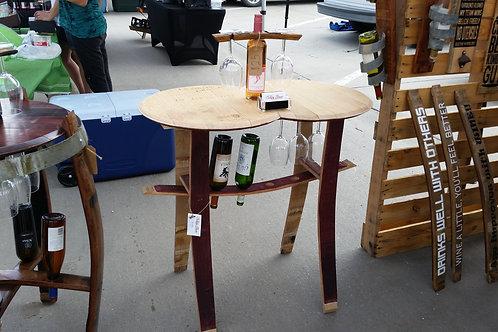 Narrow Double Full Barrel Head Table