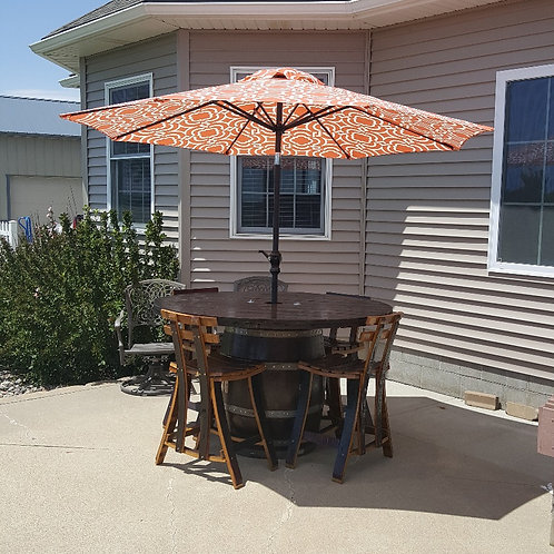 Barrel Table Patio Set w/ Heater