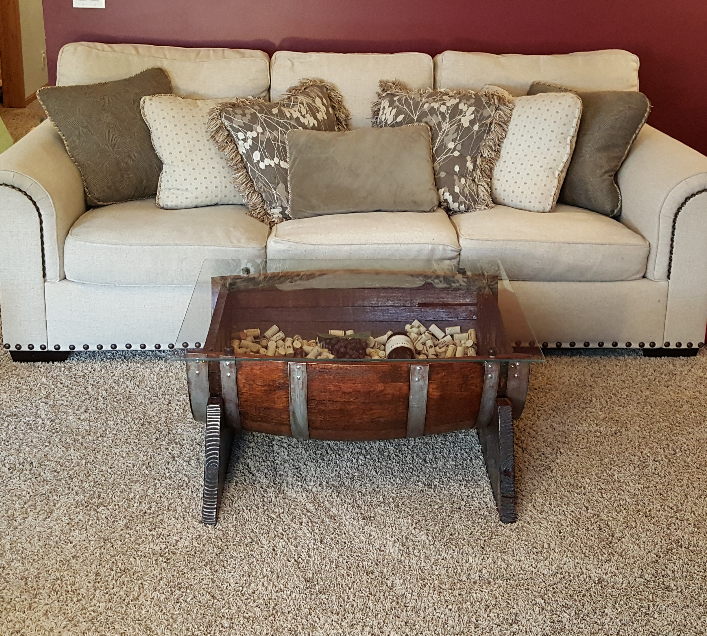 Half Barrel Table
