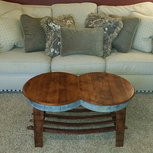 Double Barrel Head Coffee Table or Bench